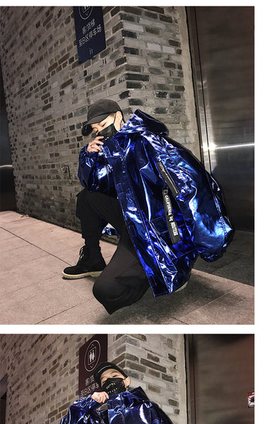 Men's Reflective Bomber Jacket
