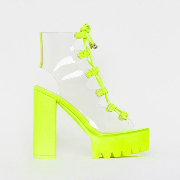 Neon Green PVC Jelly Sandals