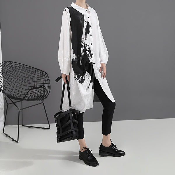 Black White Oversize Dress