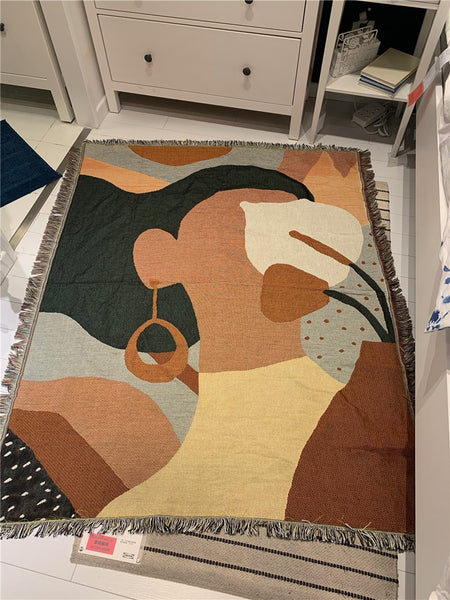 Brown Skin Lady Throw/Tapestry