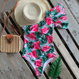 Off the Shoulder Ruffle Bathing Suit