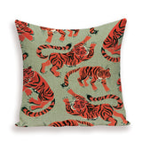 Tigers on Cushions Pillow Covers