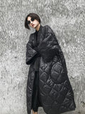 Batwing Sleeves Loose Big Size Cotton-padded Coat