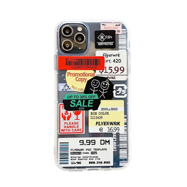 Retro Bar Code Label Phone Case