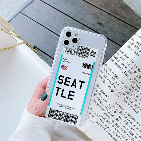 Boarding Pass Phone Case on For iPhone