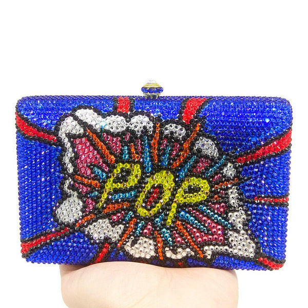 Indigo Blue Color Pop Clutch
