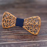 Handmade Floral Wooden Bow Tie