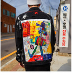 Men's Denim Art Work Jacket