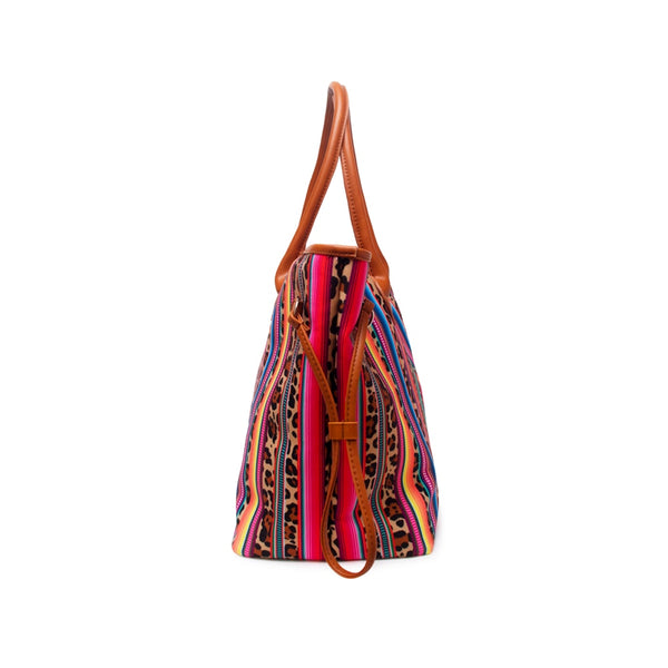 Leopard Rainbow Oversized Bag