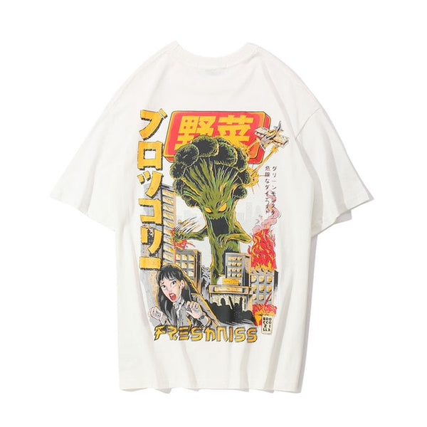 Crazy Vegetables Printed Short Sleeve T Shirt
