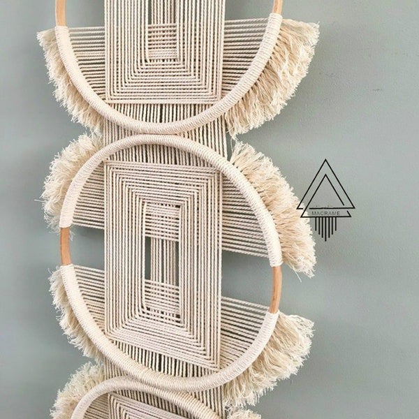 Creative Three Ring Woven  Tapestry
