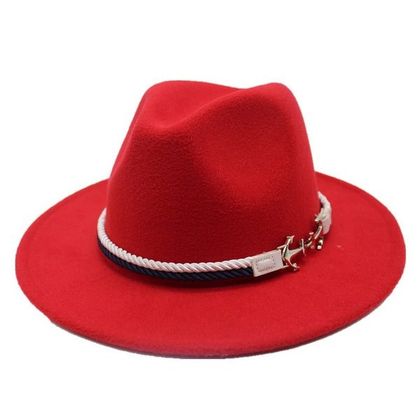 Sailor Tie Wide Brim Fedora