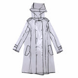Womens Transparent Trench Raincoat