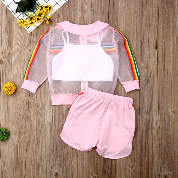 Transparent Rainbows Short Set