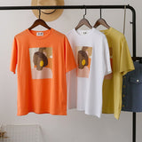 Vintage Abstract Painting Round Neck Tee