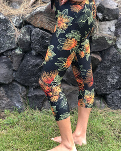 Capri Orange 'Ōhi'a Lehua Leggings