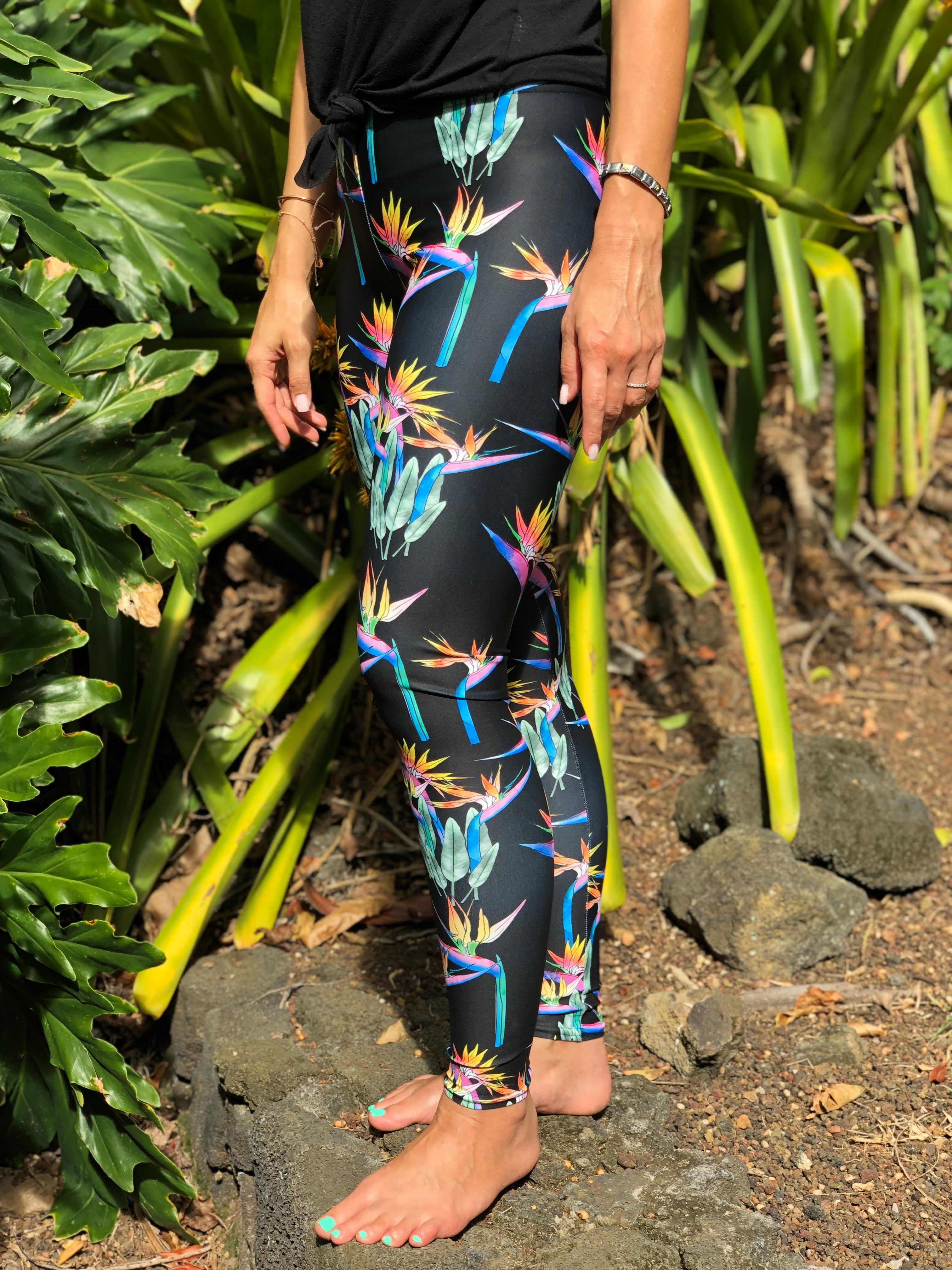 Full Length Bird of Paradise Leggings