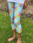 Capri Turquoise Sunrise Shell Leggings