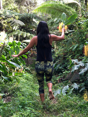 Capri Yellow 'Ōhi'a Lehua Leggings