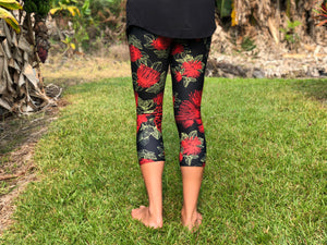 Capri Red 'Ōhi'a Lehua Leggings