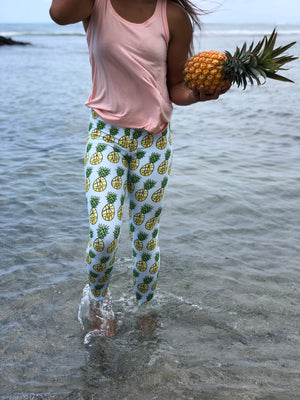 Full Length Mint Pineapple Leggings