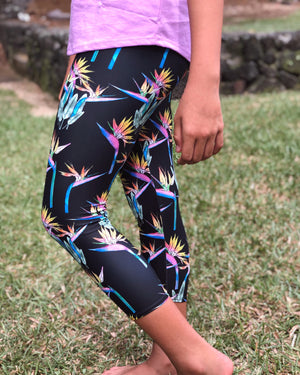 Capri Bird of Paradise Leggings