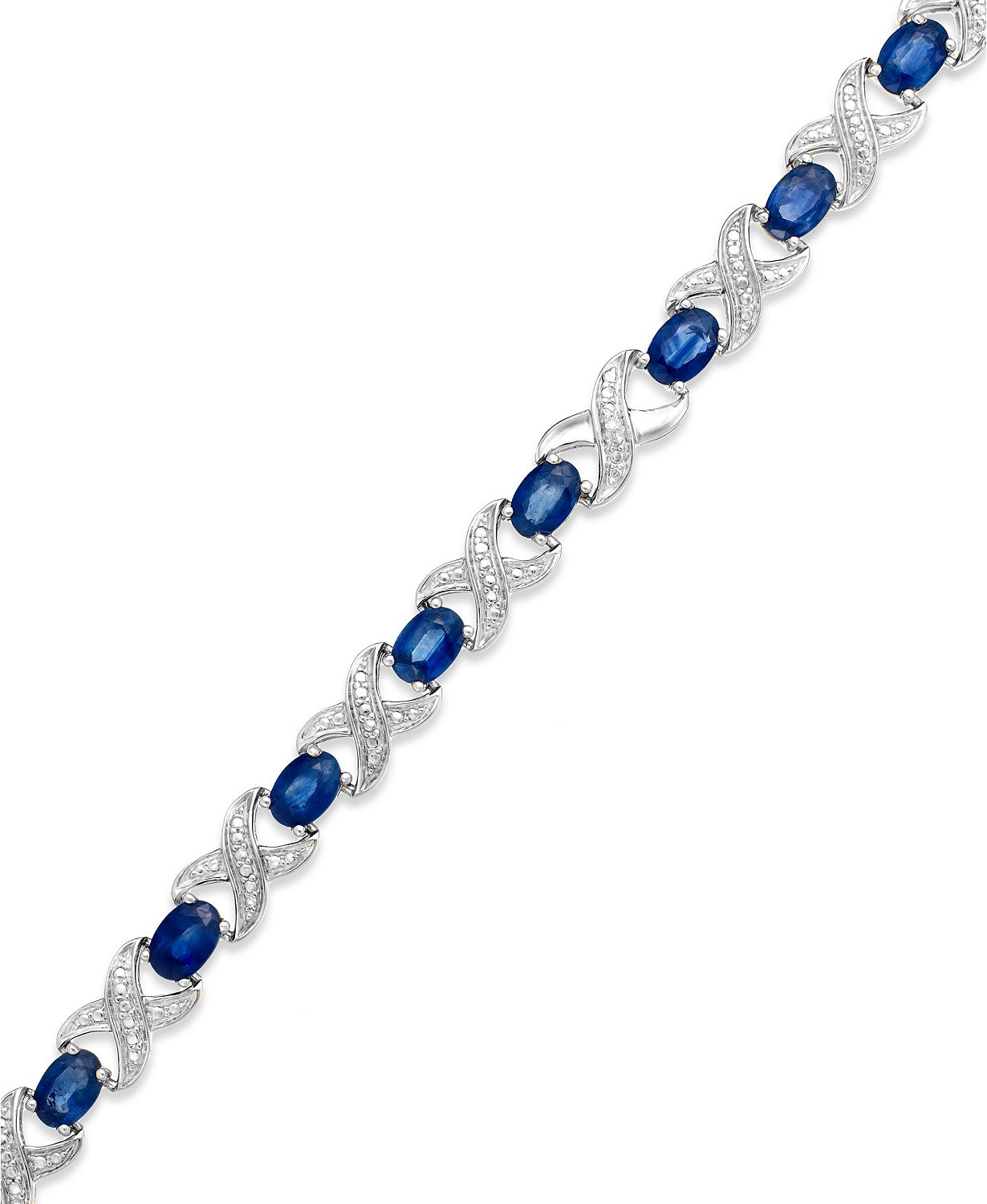 Sapphire (8 ct. t.w.) and Diamond Accent