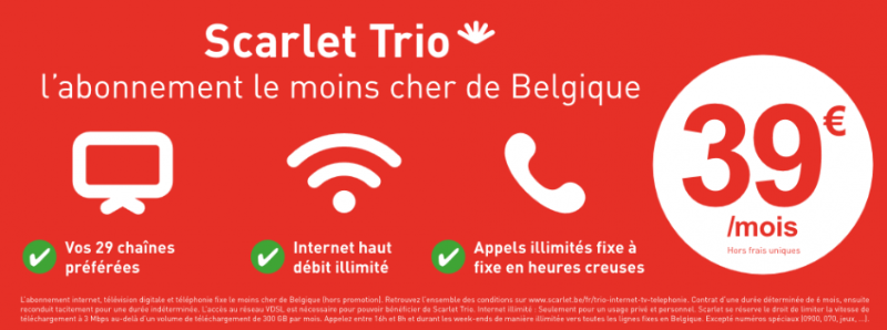 abonnement scarlet trio red hot chili