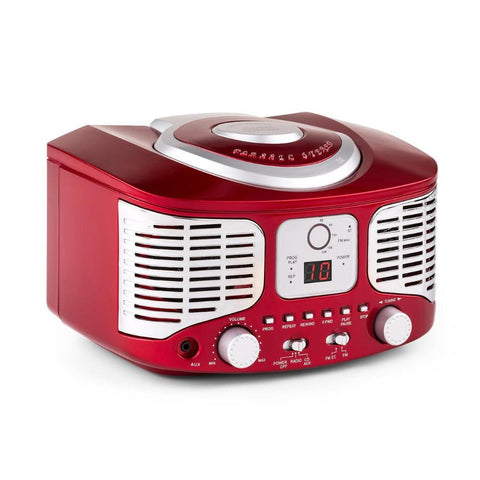 Lecteur CD Player Portable Auna RETRO Anlage Aux-In / Radio FM