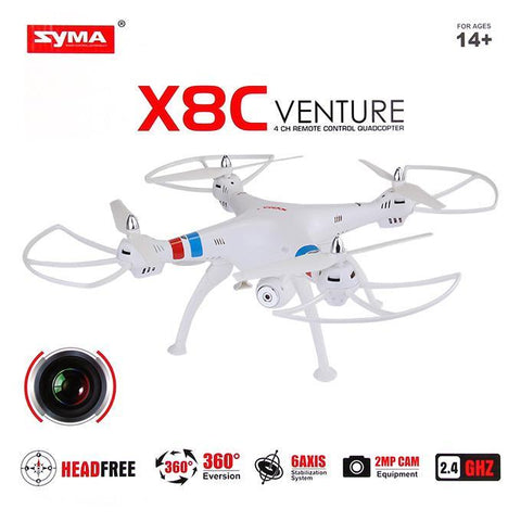 Syma X8C Venture Quadcopter 2MP Caméra HD Sans Tête Mode 2.4G RC RTF 6 Axe Gyro 3D Flip Fly
