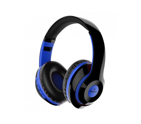 Casque Wireless AZ-02 Audio Bluetooth Sans Fil Micro Intégré Pliable Blue