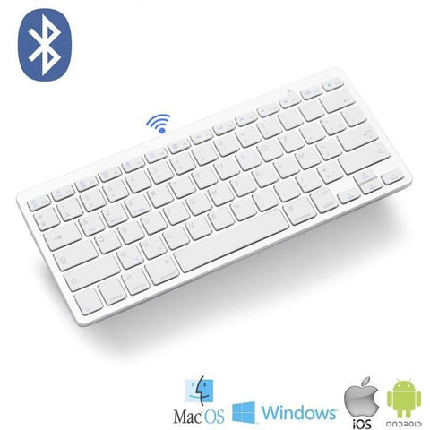 Mini Clavier Bluetooth Azerty Sans Fil 2.4G pour PC/MAC/IOS