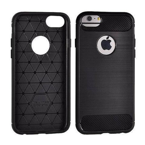 Coque souple en fibre de carbone pour iPhone - haute protection