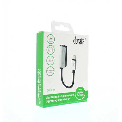 Adaptateur Durata 2 in 1 Recharge + Audio 3 5 mm pour iPhone