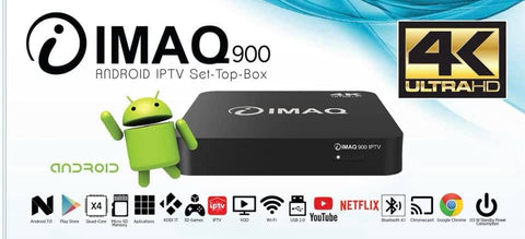 Boitier Décodeur Android IPTV Box iMaq 900 4K + Wi-Fi internet tv