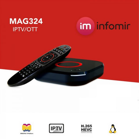 MAG324/325 Boitier Décodeur IPTV Set-Top Box Internet by Infomir