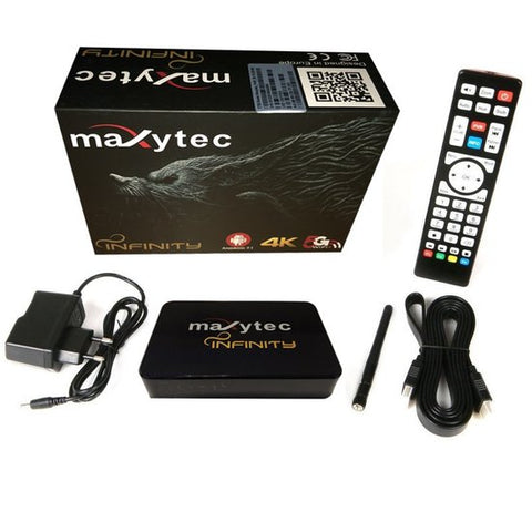 Maxytec Infinity IPTV Receiver 3D Box Android 7.1 WiFi 4K Full UHD 60fps