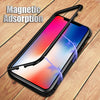 Anti-Shock Magnetic Adsorption Case With Tempered Glass For iPhones
