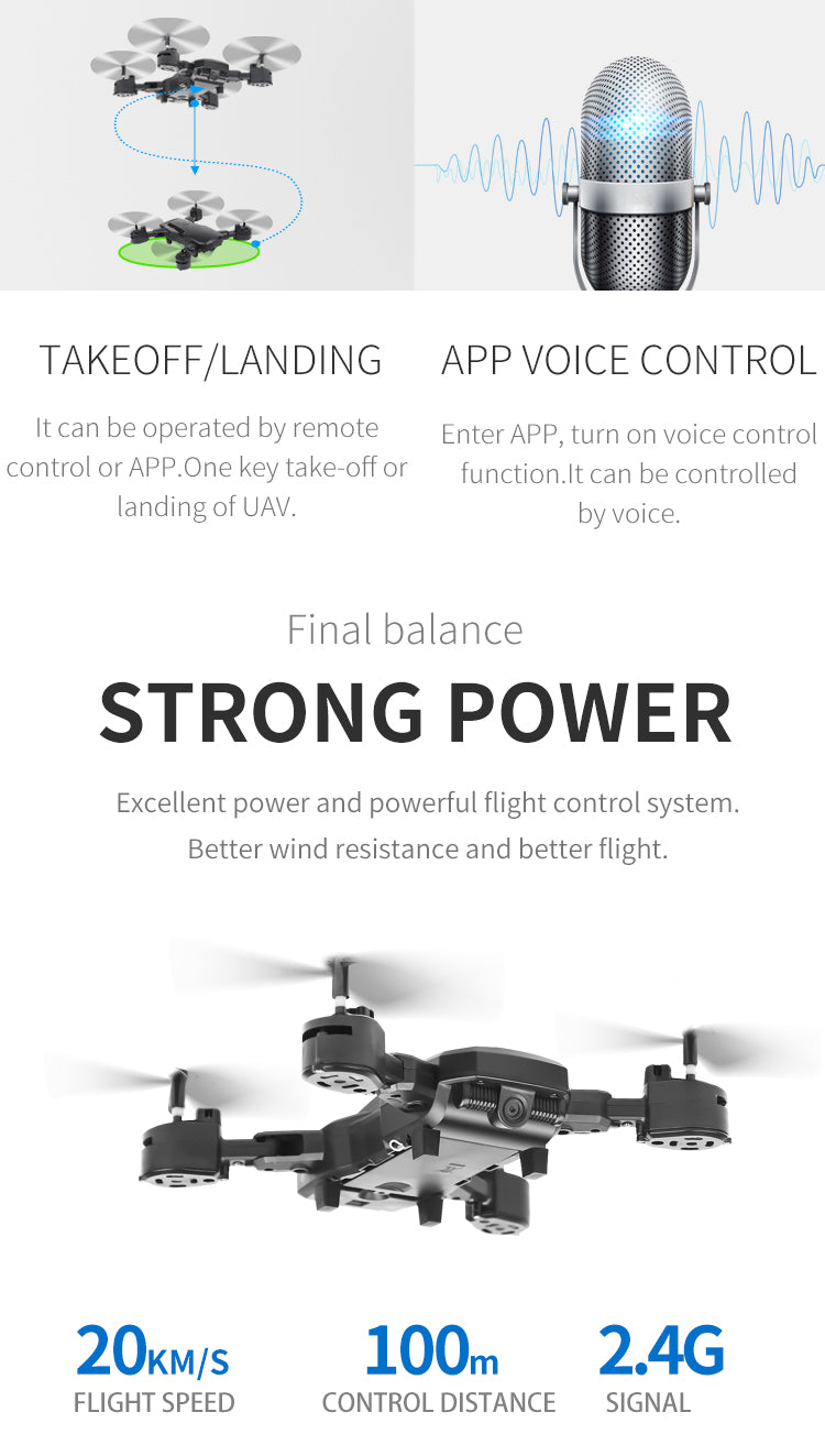 HDR D8 Drone With HD 1080P Wifi Camera