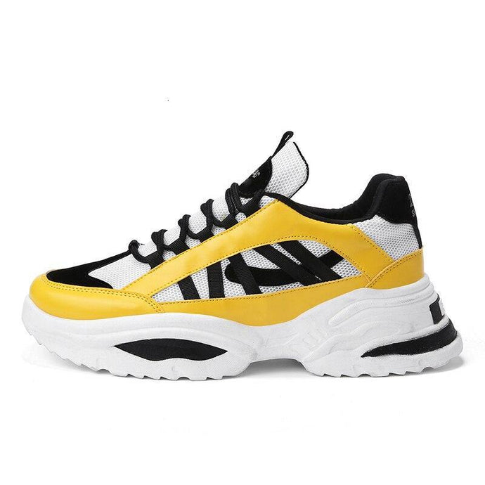 Jaune sneakers dlitas EAF Paris. Baskets montantes.
