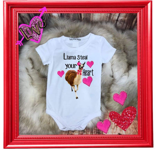 Baby Onesie Llama Steal your Heart