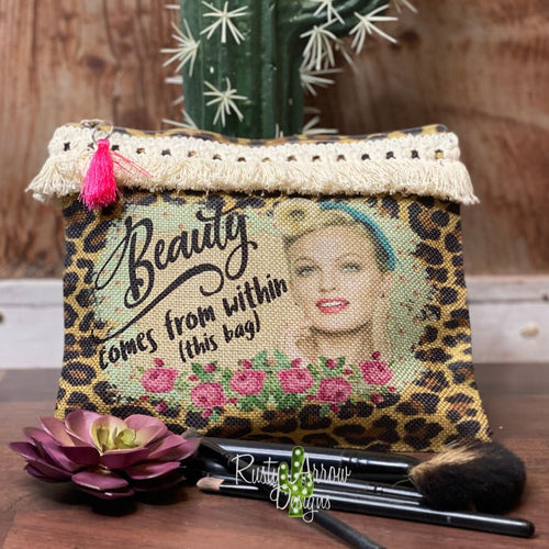 Beauty within this bag Makeup Cosmetic Bag