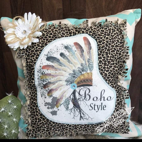 Boho Style Headdress Pillow - pillows