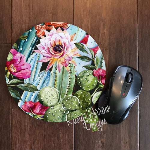 Cactus 8 Neoprene Round Mouse Pad - Mouse Pad