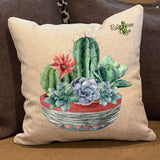 Cactus and Succulents Pillow Cover - Pillow