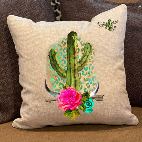Cactus Arrow Pillow Cover - Pillow