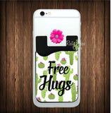 Cactus Free Hugs Cell Phone Card Caddy - Card Caddy