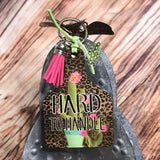 Cactus Hard to Handle Livestock Ear Tag Key chain