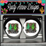 Cactus Hard to Handle Set of 2 Car Coasters - Car Coasters