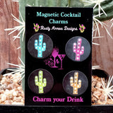 Cactus Magnetic Cocktail Charms